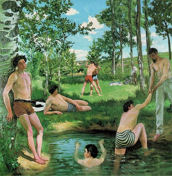 Frédéric Bazille's Summer Scene 1869, Oil on canvas Fogg Art Museum, Cambridge, Massachusetts
