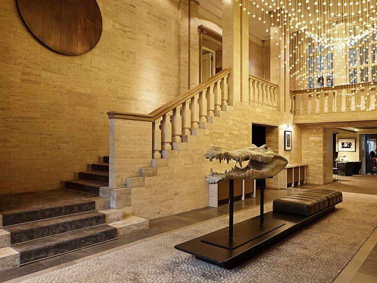 Vintage Das Stue hotel in Berlin Germany has recently had a contemporary interior transformation with Spanish designer Patricia Urquiola designing all public