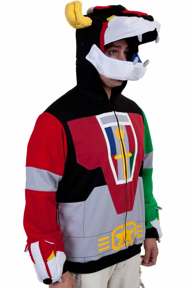 Deluxe Voltron Hoodie: Although this may very well be the coolest hoodie I've ever seen, the day I spend $160 on one, is the day you should slap me all around the face and neck.