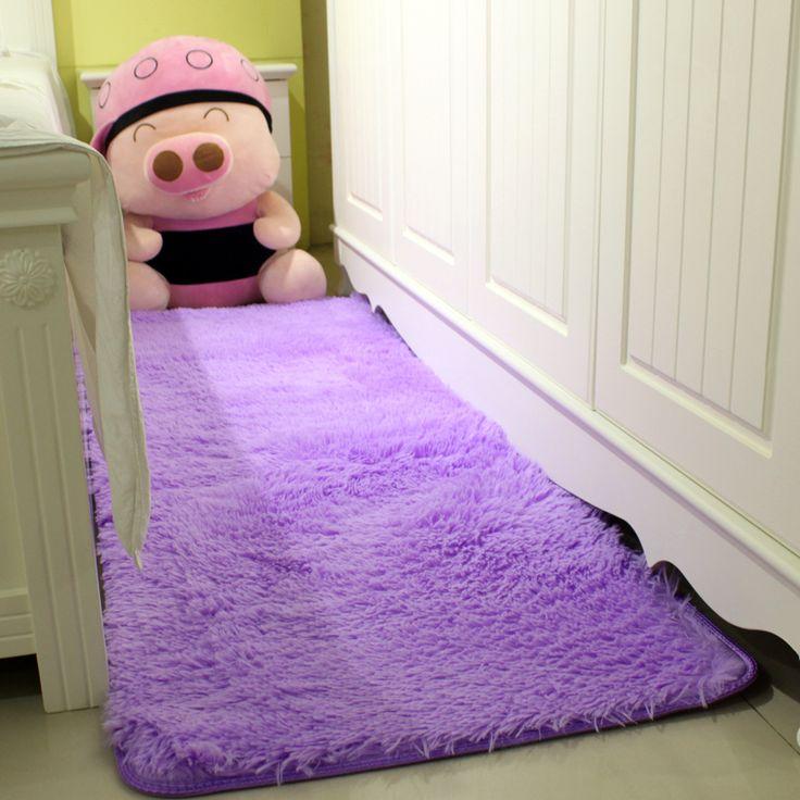 Shaggy rumah melemparkan karpet untuk kamar tidur 50 * 120 cm / 19.68 * 47.24in
