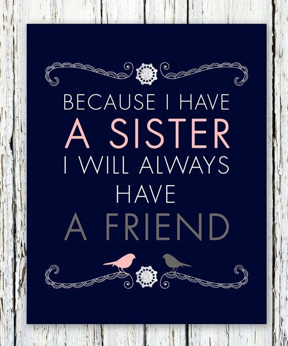 Sisters Personalized Gift Maid of Honor Gift by WordsWorkPrints, $16.00 5082 1326 25 Holly Porter Products I Love Carrie Roberts I love my sister my than life and she is my BFF!