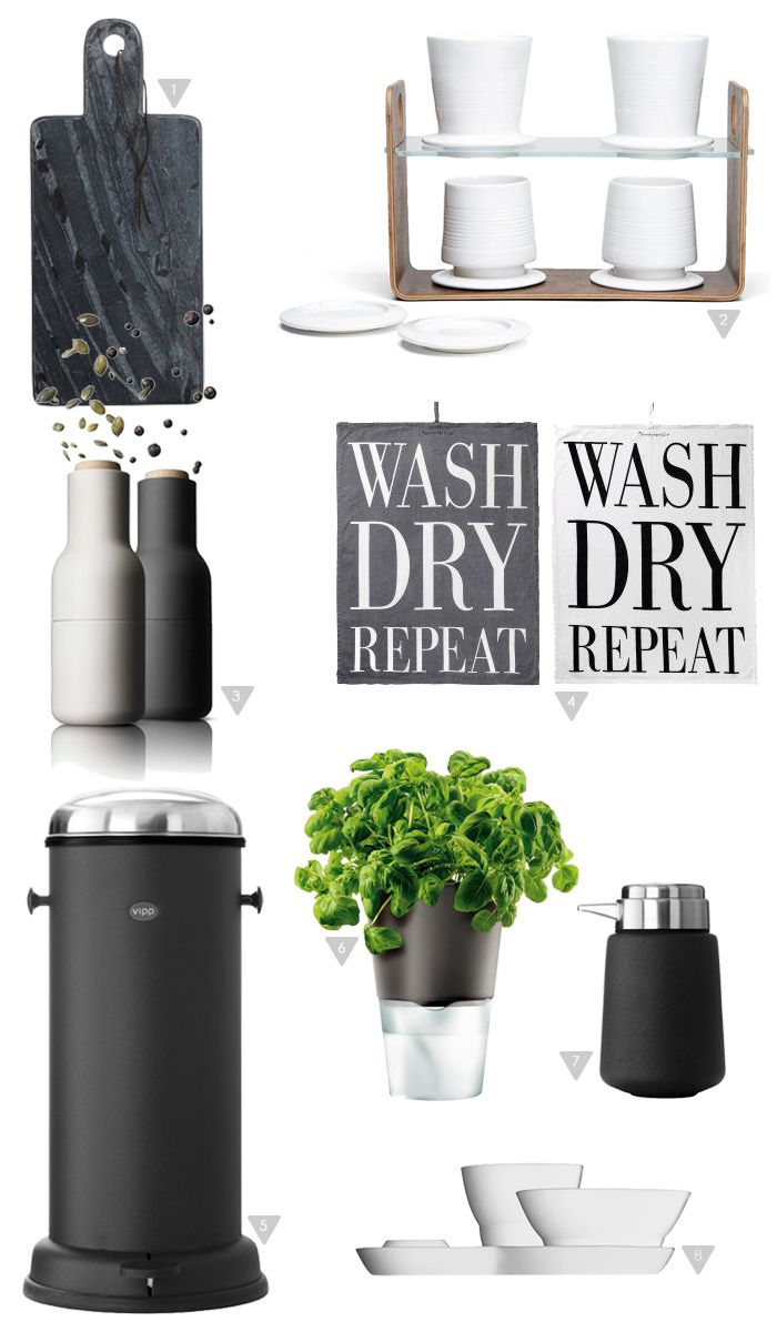 Kitchen favorites, VIPP, Menu, Marble, Drip coffee, kitchen towels, Stylizimo Shop
