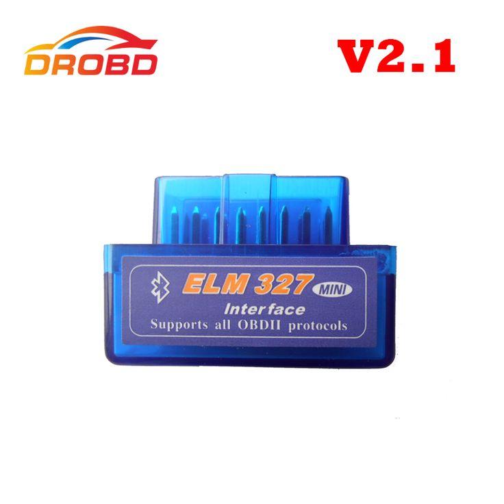 Nueva Versión Herramienta de Diagnóstico Lector de Código de Color Azul Super Mini ELM327 ELM 327 Bluetooth V2.1 OBD-II OBD OBD2 Escáner