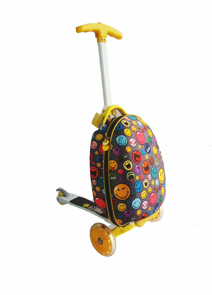 Smiley Scootie 16-inch Children's Scooter Luggage