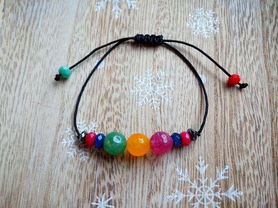 Agate Bracelet Semi-Gemstone Agate bracelet Beaded Bracelet