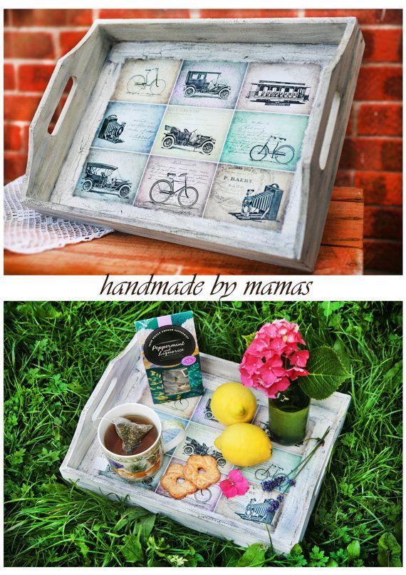 Unique handmade serving tray