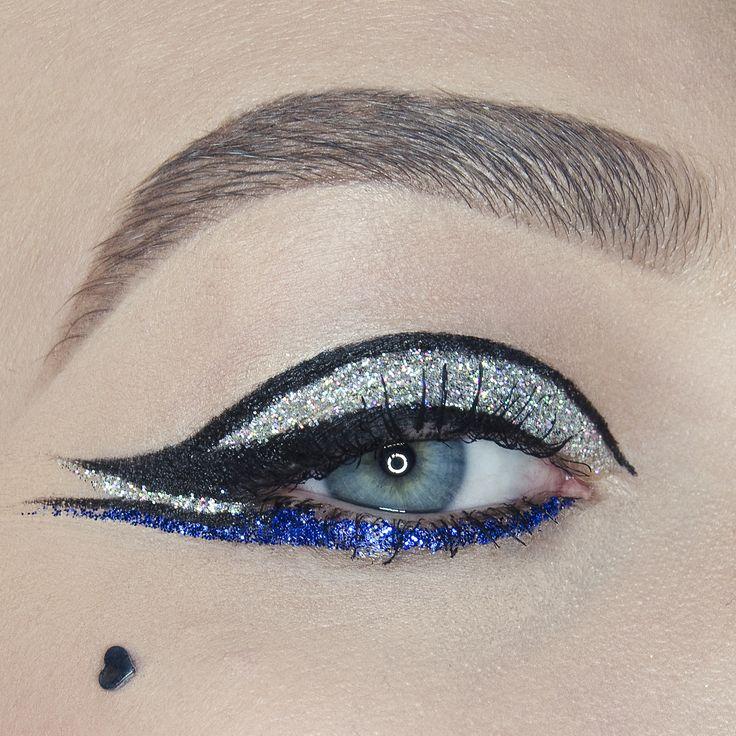Glitter eyeliner makeup by Koki9