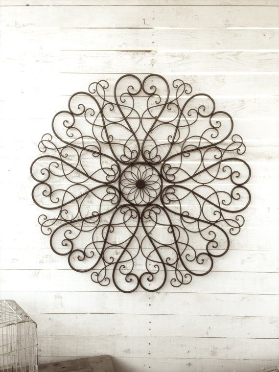Scroll Design Wall Decor : Ideas about large metal wall art on