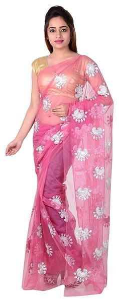 Baby Pink Net Saree With Silver Print Work https://ladyindia.com/collections/net-sarees/products/baby-pink-net-saree-with-silver-print-work   #saree #netsaree #printedsaree