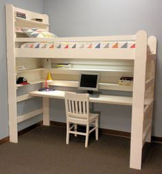 Loft Bed Bunk Bed College Youth Child Teen Loft Bed All In One Sleep