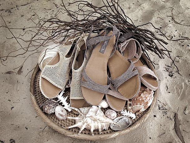 Rafia Chic does beach sandals