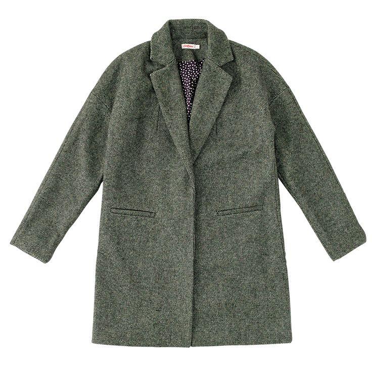 Tweed Printed Lining Coat | Cath Kidston |