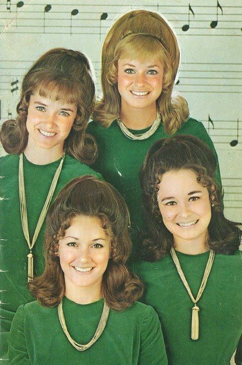 60s hair | Tumblr  The Lennon Sisters from the Lawrence Welk Show