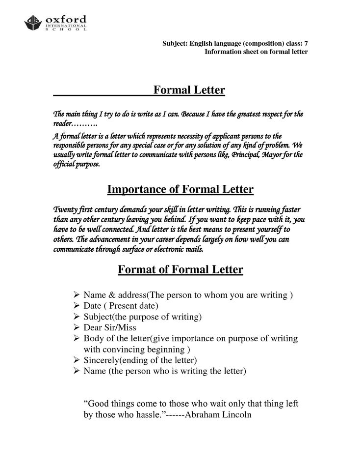 how to write a formal cover letter