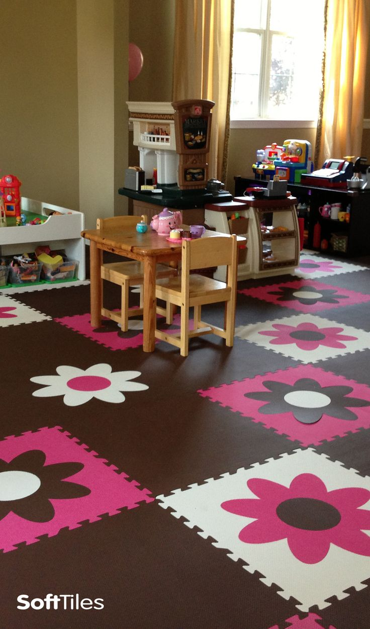 21 best nurserybaby room flooring images on pinterest nursery fun girls playroom floor using softtiles flower foam mats d149 dailygadgetfo Choice Image
