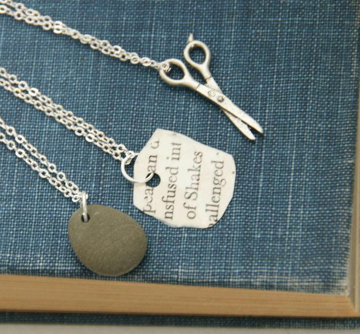 Rock Paper Scissors  Friendship Necklaces by TheBowedArrow on Etsy, $30.00