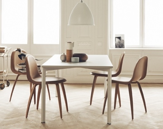The perfect kitchen/dining chair, the GUBI 5 Chair Designed by Komplot design. http://cimmermann.co.uk/blog/dining-tables-favourites/