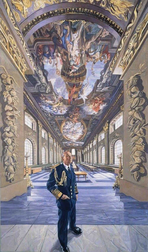 John Wonnacott 'Admiral of the Fleet Lord Lewin in the Painted Hall'