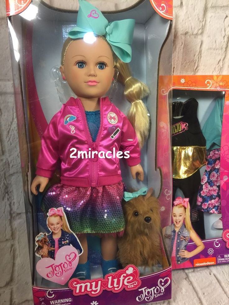 "New MY LIFE AS JOJO SIWA 18"" JoJo DOLL With PLUSH Bow-Bow DOG Nickelodeon  #MyLifeAs"
