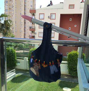 Özgüsel Hünerler: DIY: Eski Kot Pantolondan Mandal Torbası