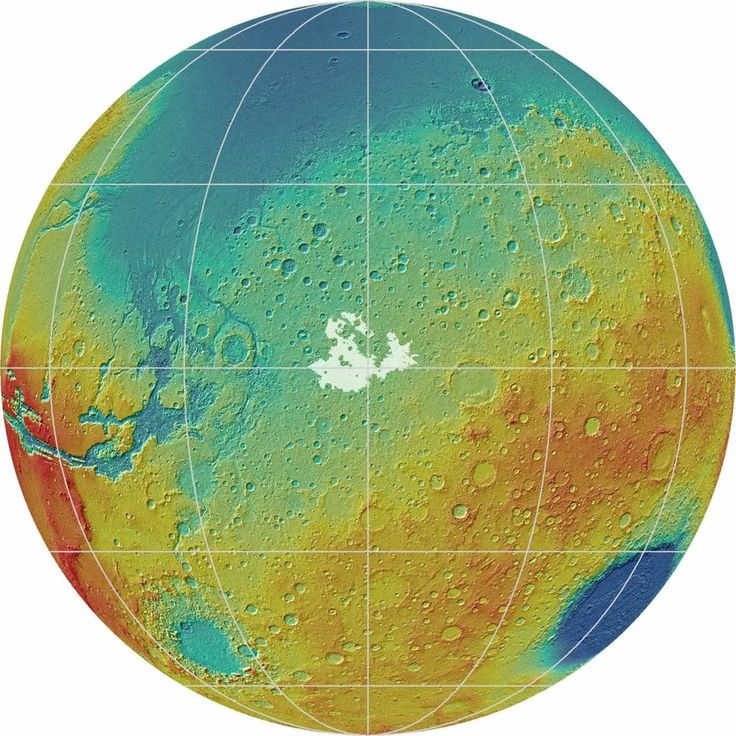 Giant deposits of ice may not lie hidden under the surface of Mars, between its equator and poles, as recently suggested, a new study finds.