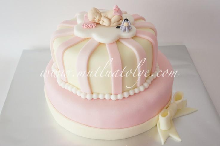 butik pasta, pasta, baby shower, babyshower, uyuyan bebek, kız, 1 yaş, mevlüt, doğumgünü, doğum günü, yaş günü, doğal, katkısız, sağlıklı, şık