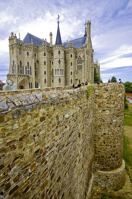 Episcopal Palace ~ Astorga, Spain: The Catalan architect Antoni Gaudí designed and partially built the bishop's palace in Astorga (although finished by others).