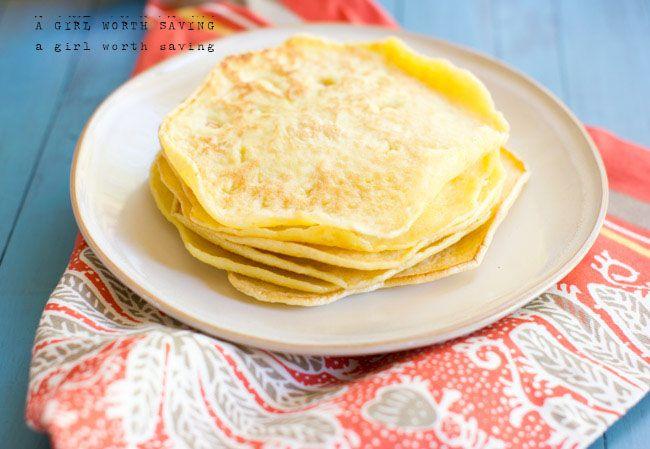 Paleo Wraps Recipe with large eggs, egg whites, sesame seeds, sea salt, garlic powder, tapioca flour, cream of tartar, coconut oil