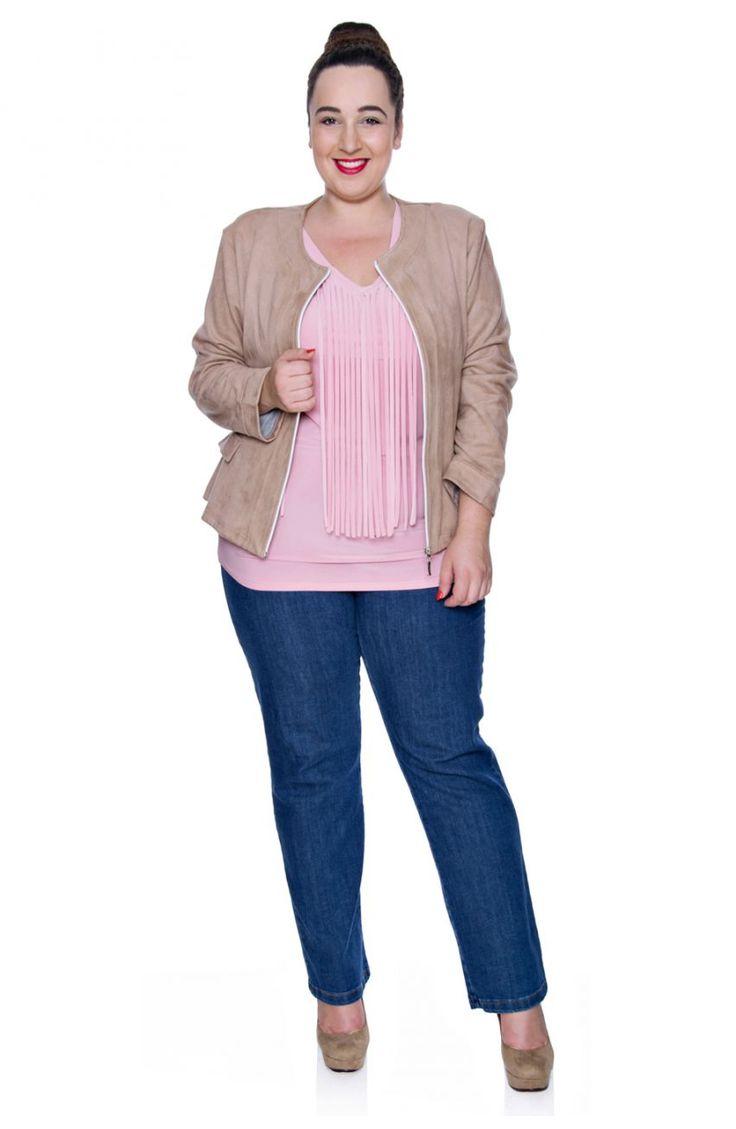 Jeansy z prostą nogawką - Modne Duże Rozmiary