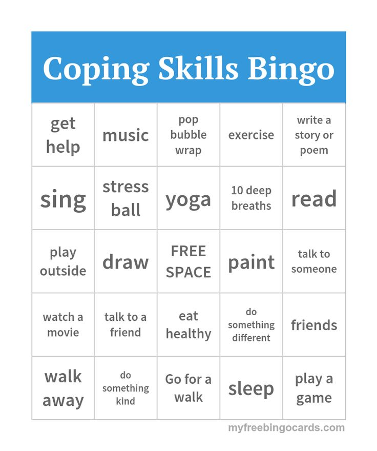 Crafty image within free printable coping skills worksheets