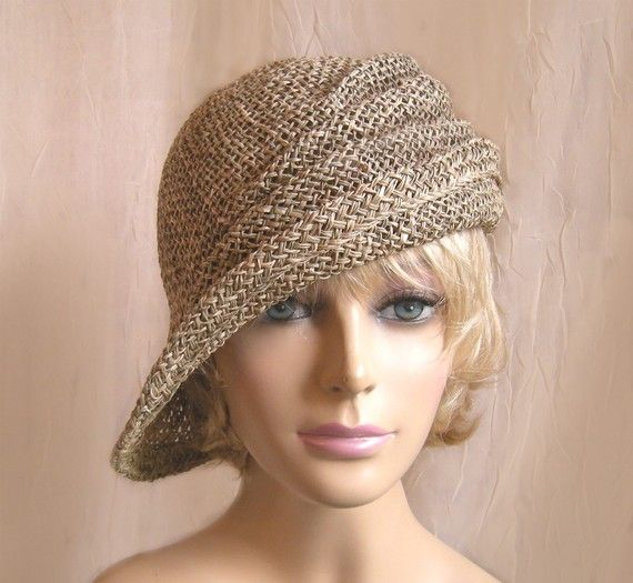 Ava seagrass side drape millinery hat by LuminataCo on Etsy, $75.00