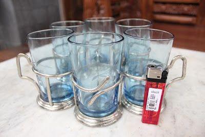 Maestro Antik Purwokerto: Gelas anggur biru antik SOLD