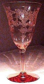 TIFFIN DIANA PINK ATHENS ELEGANT GLASS WARE