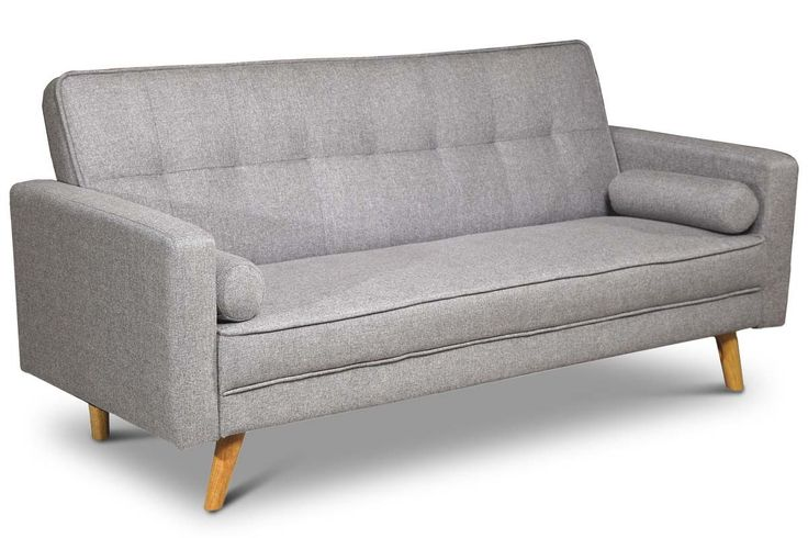 Boston Modern Light Grey Fabric 3 Seater Sofa Bed