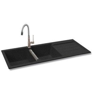 Carron Phoenix Java 210 2.0 Bowl Granite Graphite Black Kitchen Sink & Waste Preview 2