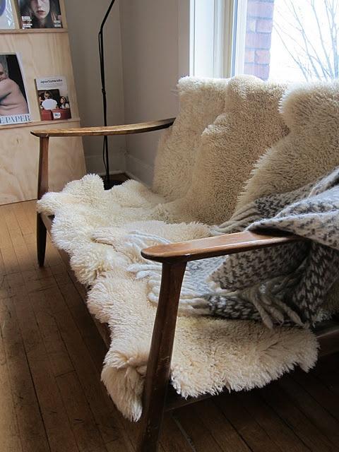 sheepskin rugs for coziness #diy #home