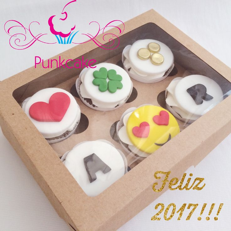 Cupcakes Love Emoji PastaAmericana Modelagem Sorte