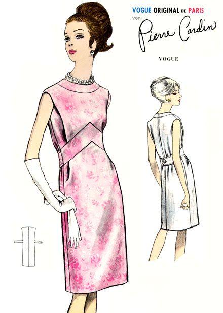 Pierre Cardin dress pattern - Burda Patterns, Spring 1966