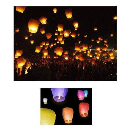 10-Pack: Trance Balloons Sky Lanterns