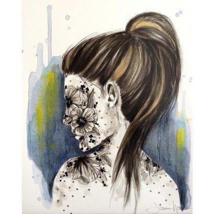 Étude 1 Face #watercolor