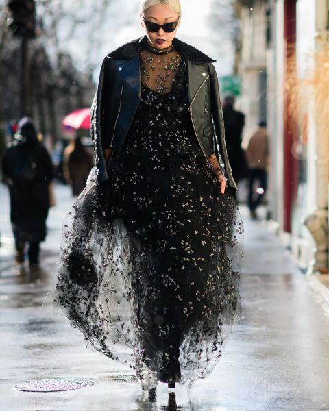 Here's a creative way to wear all black, add some sparkle to your black lace for hat extra sexiness.