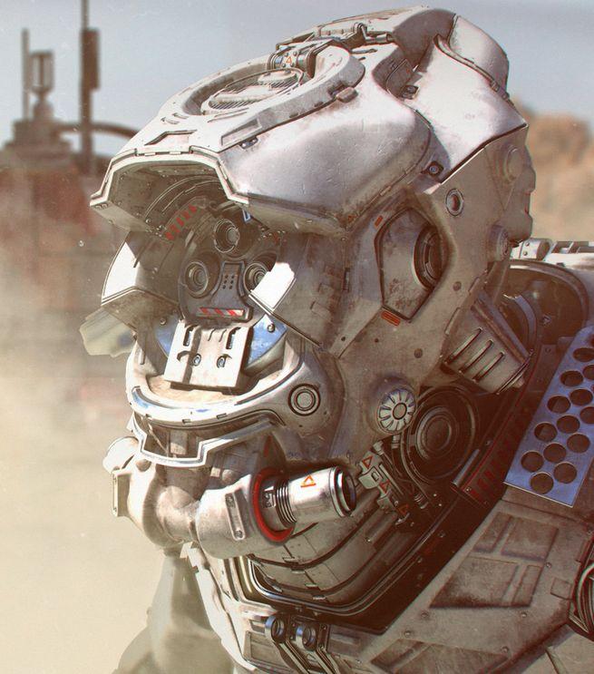 Digital art by Tor Frick. More robots here.