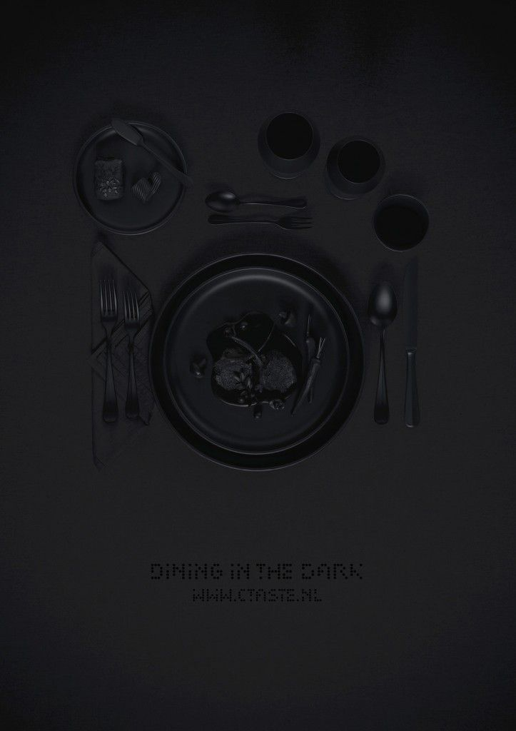 Dining in the dark...
