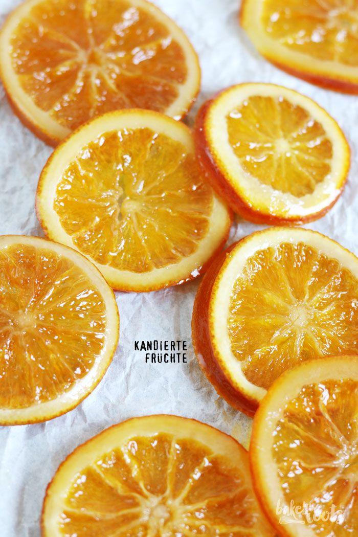 Candied Fruits (Oranges)   kandierte Früchte - mal was anderes - pur essen, zur Dekoration verwenden oder z.B. in geschmolzene Schokolade tauchen - http://baketotheroots.de/kandierte-fruechte/