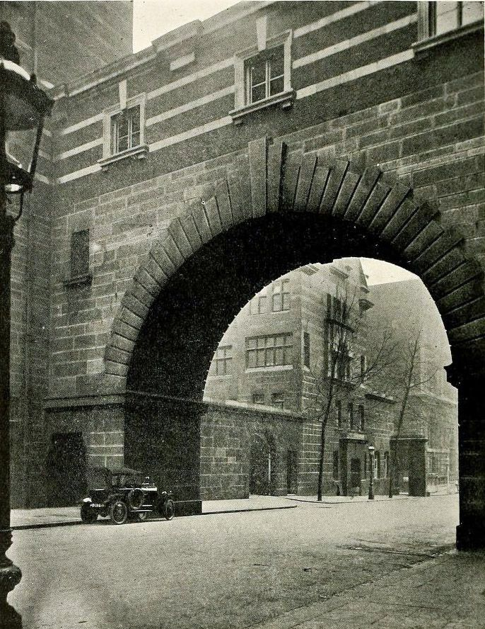 The granite arch of Scotland Yard, London