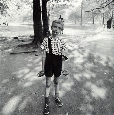 I used this image as an inspiration for a project in one of my photography courses.  We had to emulate a photographer and I chose Diane Arbus.  She was a fantastic photographer!