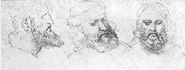 César Borgia, dibujos por Leonardo da Vinci