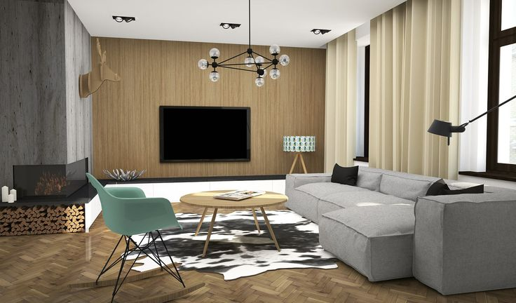 Apartment for sale - living room. Design by ARCADA