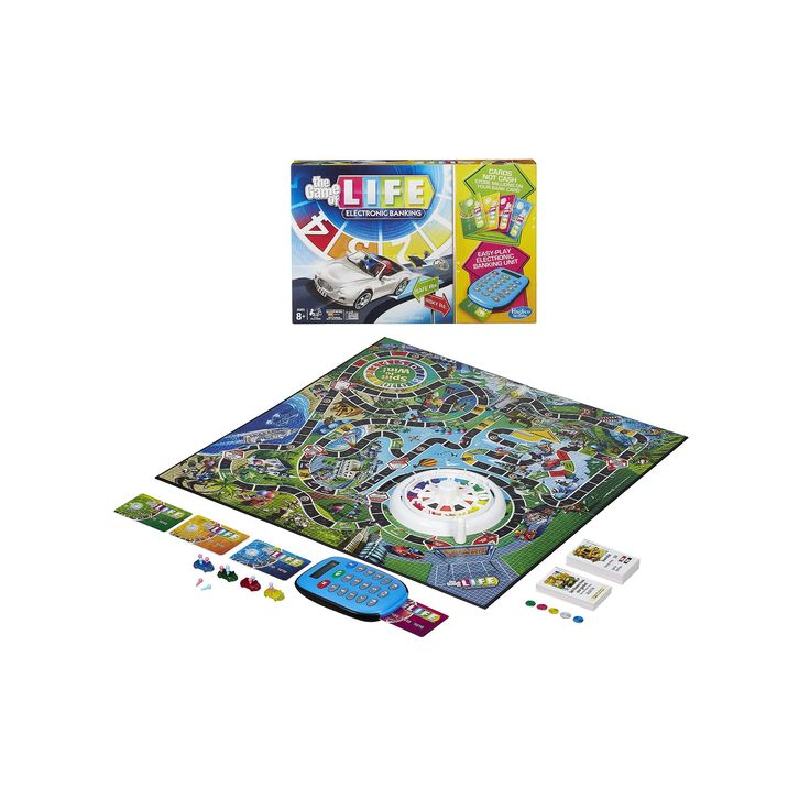 The Game of Life Electronic Banking Game by Hasbro, Multicolor