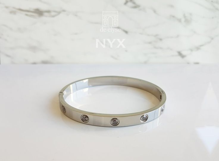 Nyx Silver Bangle
